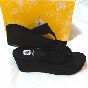 Yellow Box Womens Nash Wedge Sandal